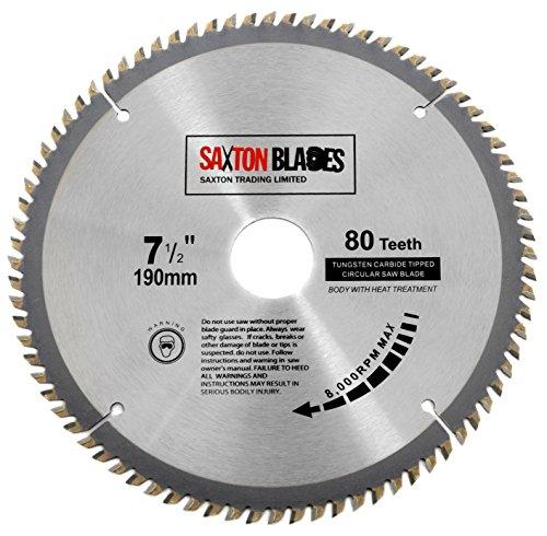 classement un comparer Lame de scie circulaire Saxton TCT19080T TCT190 x 30 mm, 80 dents, compatible…