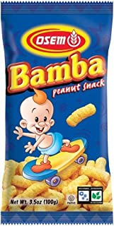 Bamba Peanut Butter Snacks All Natural Peanut Butter Corn Puff Snack (Pack of 12 3.5oz Bags)