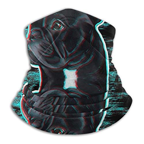 Akhy Multifunctional Headwear Face Mask Headband Neck Gaiter A Bulldog Looking in The Mirror Balaclava for Men and Women