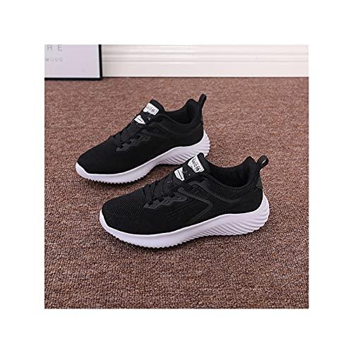 Zapatillas de Tenis de Malla Ligera para Correr para Mujer, Zapatillas Deportivas para Caminaar para Entrenamiento,Black-35