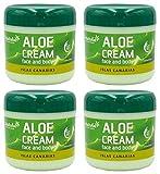 Aloe vera Crème visage et corps Aloe Vera 300ml x 4 unités