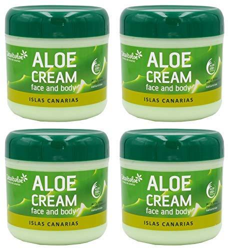 TABAIBA, Aloe vera creme Gesichtscreme und Körper Aloe Vera x 4 Einheiten, 1200 milliliter