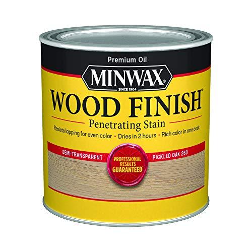 Minwax 22600444 - Tinte interior de madera penetrante con acabado de madera, 1/2 pinta, roble en vinagre