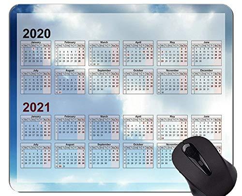Kundenspezifische ursprüngliche Mausunterlage des Galaxie-Kalender-2020, Himmel-Weiß-Wolken-Gummimausunterlage
