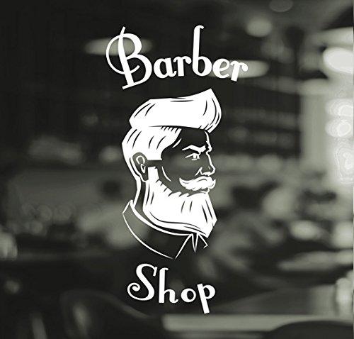 Aufkleber, Friseur, Herren-Salon, Vinyl, Schild mit englischer Aufschrift, Fenster-Schriftzug
