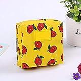 Caomei amarillo mini cartera bolsa de cosméticos viaje lavado bolsa cosmética pequeña flor bolsa de almacenamiento bolsa de belleza set makeupfashion