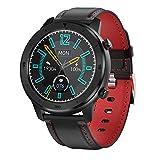 Reloj elegante, Control actividad con 1,3' pantalla LCD táctil completa, la presión arterial del ritmo cardíaco impermeable reloj inteligente podómetro Monitor la caloría del paso del contador,Rojo