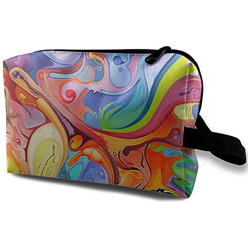 Voyage Cosmetic Bag Portable Sac À Main Couleur Art Trousse De Toilette Petit Maquillage Sacs Cas Organisateur