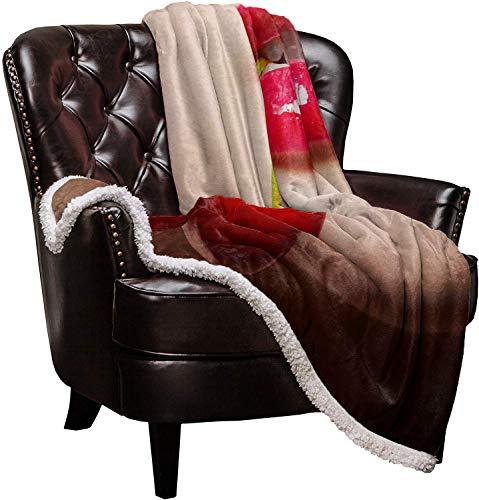 Throw Blanket Kirschroter Lippenstift Thermal Fuzzy Blankets Gemütliche Weiche Warme Mikrofaser Decken für Erwachsene Babys Alle Jahreszeiten