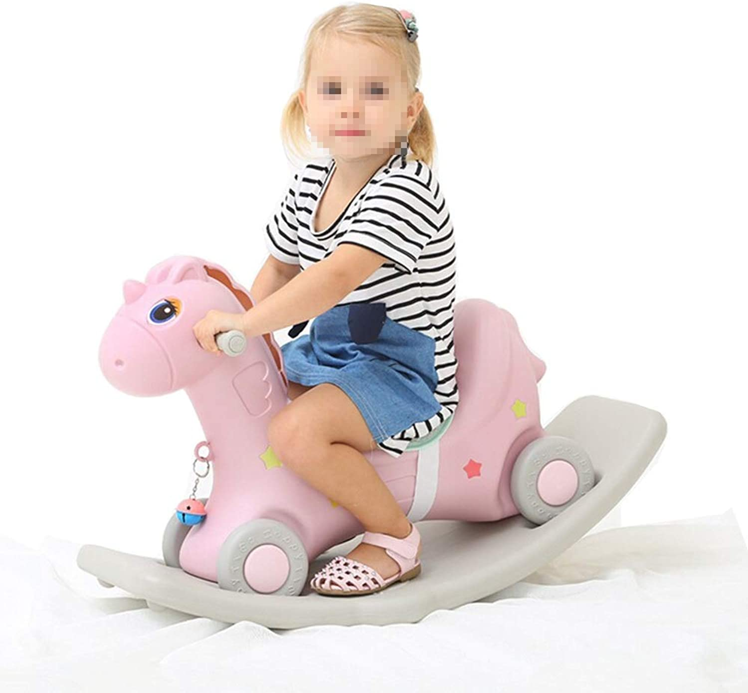 Havanadd-Toys Rocking Horse Ride On Baby Rocking Horse Set Kid Rocking Toy Kid Ride Animal Rocking Horse Toddler Toy (color   Pink, Size   80  50cm)