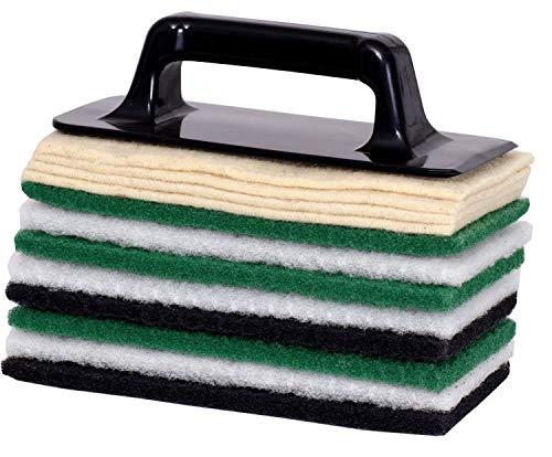 """Hand-Padhalter Pro - Set\""""Parkett Öl-Neuaufbau - Nachölen - Intensivreinigung\"""" 12Stück Pad Set für Öl-Neuaufbau - Nachölen - Intensivreinigung, inkl. Padhalter"""
