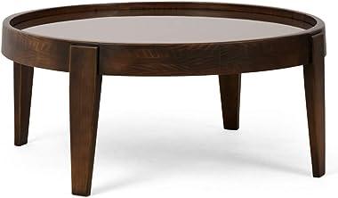 Mesa de Centro Decorativo Para Sala de Estar Peaky 94x38 Canela - Gran Belo