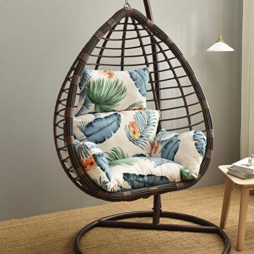 ALBEFY Cojín colgante para silla de huevo, hamaca gruesa para colgar, columpio de huevo, cojín de ratán, lavable, antideslizante, suave, para interior y jardín