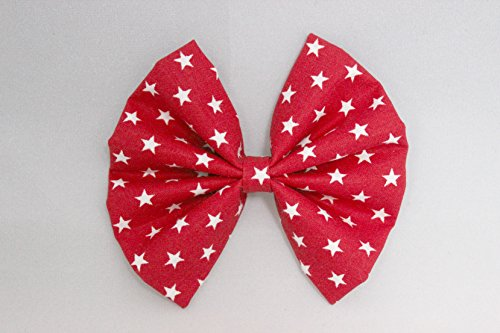 4th of July Fabric Hair Bow Clip, Star Spangled Hair bow clip Aava's Best Kept Secret