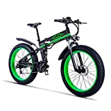 GUNAI Mountain Bike Elettrica, Bici elettrica 1000W Bici Montagna Ebike 21 velocità 26 'Full Suspension 48V12AH Pedali Assist