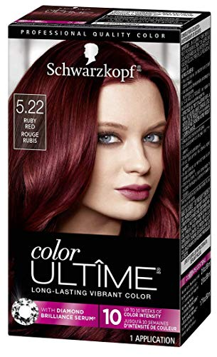 Schwarzkopf Color Ultime Hair Color Cream, 5.22 Ruby Red