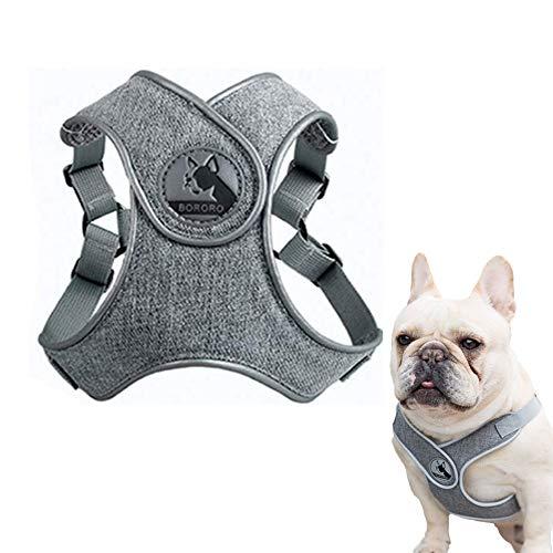 ABRRLO Pet Hundegeschirr für Kleine Mittlere Hunde Reflektierend Geschirr Vest Air-Mesh Einstellbar Dog Harness Weich Gepolstert Atmungsaktiv