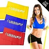 URBNFit, fasce lunghe da fitness, (1,5m), con ancoraggio da porta, fantastiche,set di ...