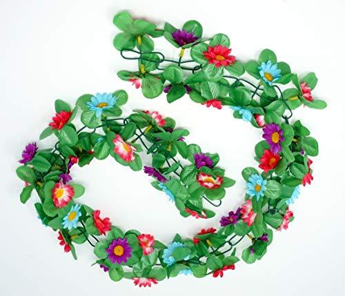CBK-MS Blumengirlande Sonnenblumen bunt ca.130 cm zum verschönern Ihres Fahrrades oder Wohnung