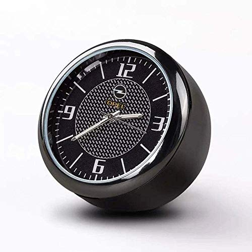 Runde Auto Uhr, Armaturenbrett Uhr, Hohe Genauigkeit Quartz Luminous Dial, perfekte Auto-Dekoration mit Vent Clip und doppelseitiges Klebeband for Auto (O-PEL)