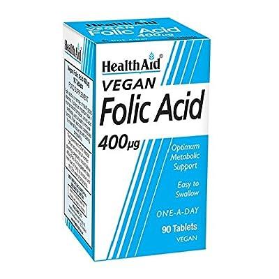 HealthAid Folic Acid 400g - 90 Tablets by HealthAid