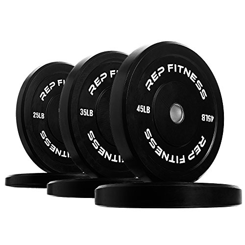 Rep Bumper Plates for Strength and Conditioning Workouts and Weightlifting 210 lb Set