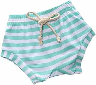 Baby Boy Girl Striped Training Pants French Terry Shorts Drawstring Underwear