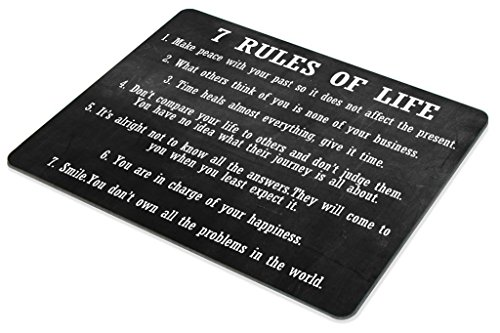 Smooffly Gaming Mouse Pad Custom,7 Rules of Life Motivational Inspirational Personality Desings Gaming Mouse Pad Photo #3