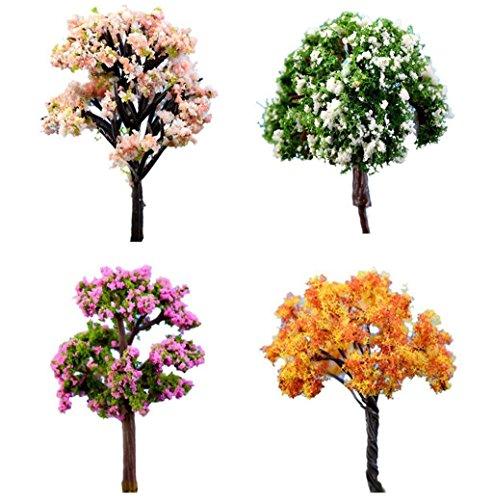 Lumanuby 3pcs Arbre miniature plantes Arbre Modèle,...