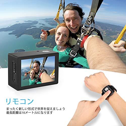 CrosstourCT8500アクションカメラ4K高画質1600万画素水中カメラWiFi搭載手ブレ補正防水2インチ画面1050mAhバッテリー2個付豊富なアクセサリー日本語説明書【メーカー1年保証】