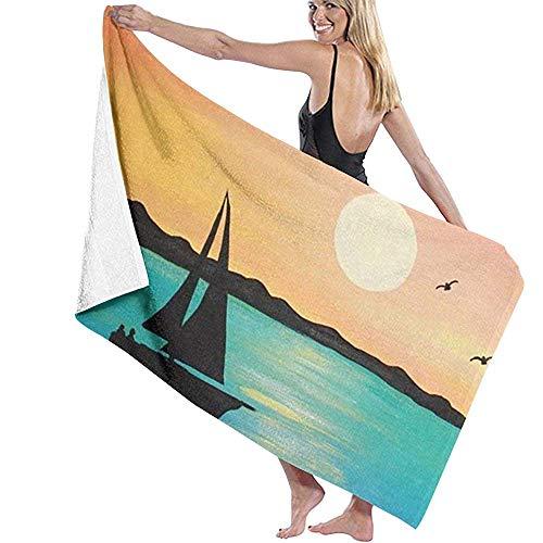 Lfff Vela Soft Absorbente Ligero para baño Piscina Yoga Pilates Manta de Picnic Toallas de Microfibra 80cm * 130cm