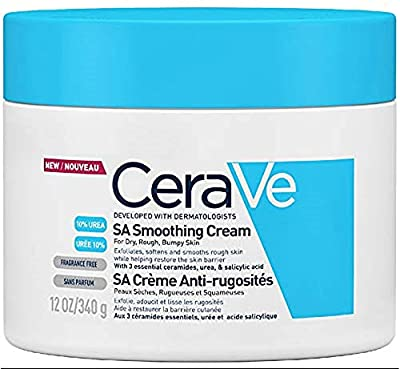 CeraVe SA Smoothing Cream   340g/12oz   Moisturiser for Smoother Skin in Just 3 Days* by Cerave