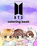 BTS coloring book: Bangtan Boys coloring book for Stress Relief, Happiness and Relaxation: for ARMY, KPOP lovers, Love Yourself Book,cute chibi ... Jimin, V, and Jungkook etc (61Pages, 8 x 10)