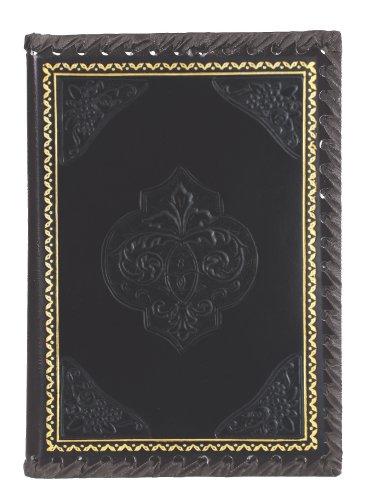 Eccolo 6 x 8 Inches Refillable Romance Journal/Notebook, Black Fleur-De-Lis