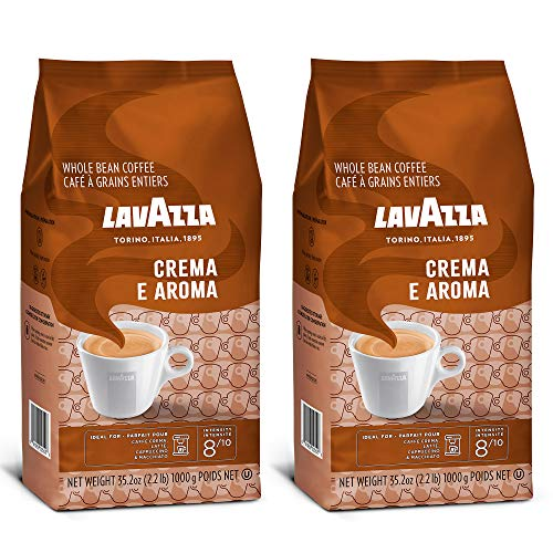 Lavazza Crema e Aroma - Coffee Beans, 2.2-Pound Bag - Pack of 2