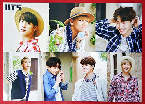 BTS Bangtan Boys - 12 PHOTO POSTERS + STICKER SET A3 Size Bromide + BTS Postcard + Photocard |