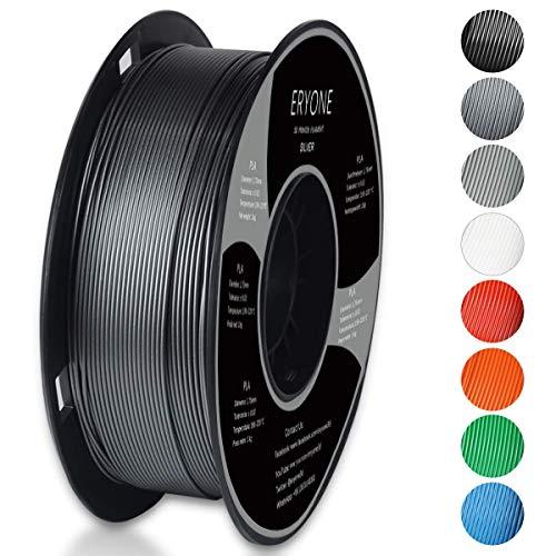 Filamento PLA 1.75mm, Eryone PLA Filamento de PLA para Impresión 3D, 1kg 1 Spool, Plata
