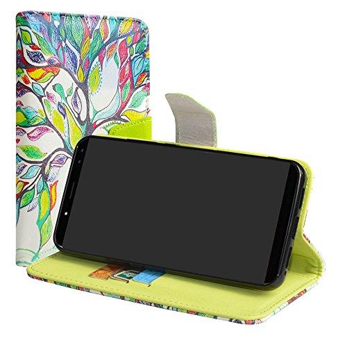 LiuShan Ulefone Power 3S Hülle, Brieftasche Handyhülle Schutzhülle PU Leder mit Kartenfächer & Standfunktion für Ulefone Power 3S (6 Zoll) Smartphone (mit 4in1 Geschenk verpackt),Love Tree