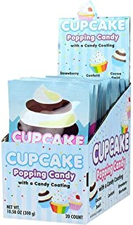 Koko's Cupcake Popping Candy with Candy Coating, 0.53 Ounces - 20 Count Display Box