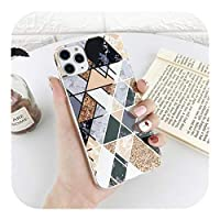 Xahoc for iPhone 11 12 Pro Max XS Max 7 8 Plus SE2020用の豪華なメッキスプライスグリッターマーブルケース人気のカラフルな裏表紙-T1-for iPhone 11 Pro