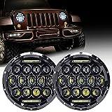 Firebug Jeep LED Headlight 75W 9000 Lumens Hi/Lo Beam, Jeep Wrangler Headlights DRL, Jeep TJ Led Headlights, Jeep JK Led Headlights, Jeep Wrangler JK TJ LJ 97-16