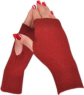 Half Fingerless Gloves Thumb Hole Cashmere Winter Warm Gloves Knit Mittens for Men Women