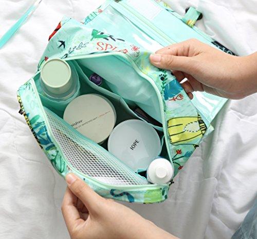 Cosmetic Makeup Bag Case Hanging Toiletry Bag Travel Organizer Travel Kit for Women Men Animal World