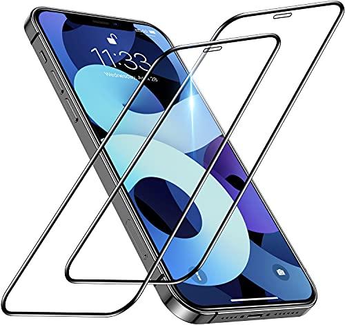 memumi [2 Pezzi Vetro Temperato Compatibile con iPhone 12 PRO Max 6.7', Protezione Schermo Intero 3D [9H Durezza] Pellicola Protettiva AntiGraffio,Anti-Impronta Digitale,Senza Bolle,Ultra Trasparente