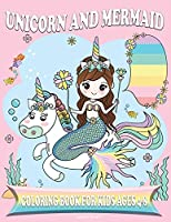 Unicorn and Mermaid Coloring Book for Kids Ages 4-8: Amazing Fan Activity Book for kids, Beautiful MERMAIDS, PRINCESSES, RAINBOW.
