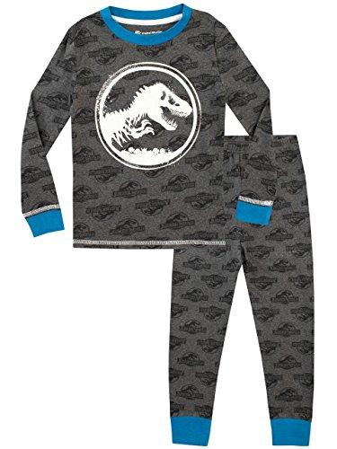 Jurassic World Pijama para Niños - Brilla en la Oscuridad - Gris - 5 a 6 Años