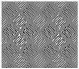 STORMGUARD 18AM034 Placca a Scacchi, in Alluminio, 500 X 250 X 2mm, Set di 2 Pezzi