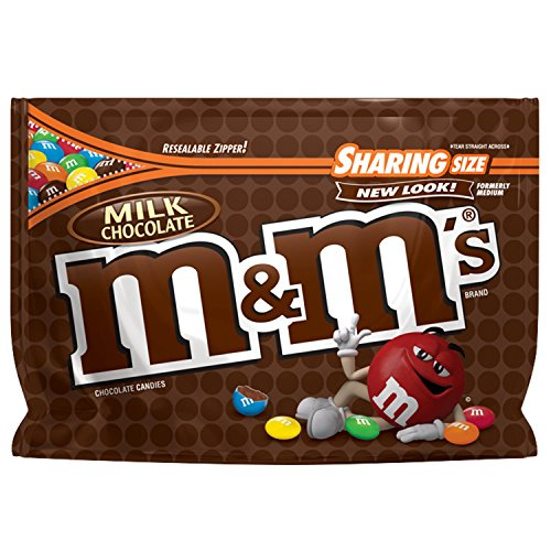 M&M'S Milk Chocolate Candy Sharing Size 10.7-Ounce Bag