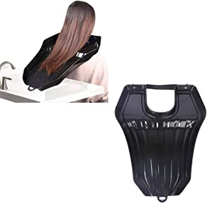 Hair Washing Tray,Portable Mobile Hair Shampoo Basin, Hair Wash Bowl in Bed and at Home(Color:Black)