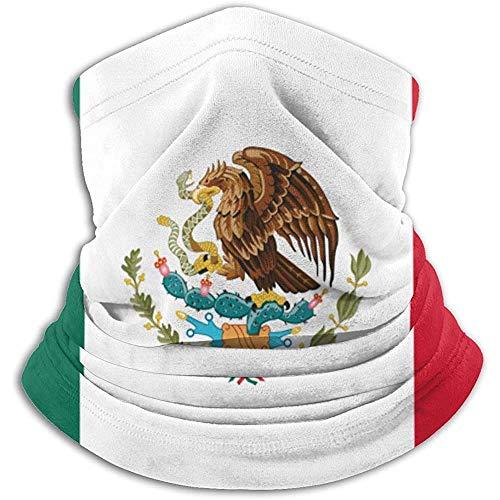 ulxjll Neck Gaiter Warmer Bandera De México Hombres Polaina Calentador De Cuello Pasamontañas Esquí Mujeres Clima Frío Cara Sombreros De Invierno Gorros Pañuelos Al Aire Libre